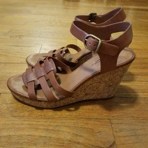 Lucky Brand LK-Willows brown leather wedges